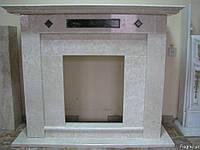 Каминный портал MEMPHIS из мрамора Victoria Beige и Saturnia