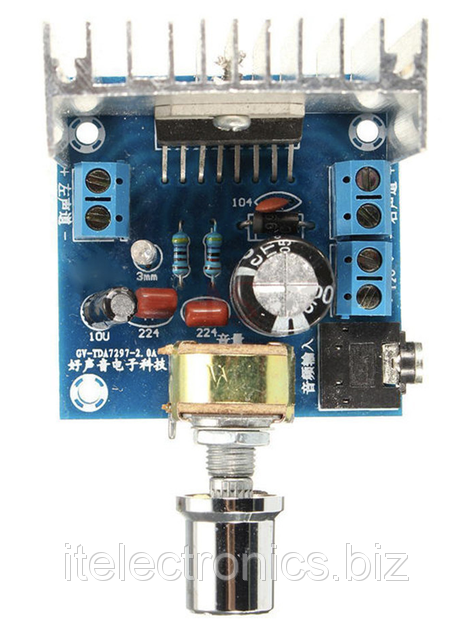 Підсилювач TDA7297 12В, 2*15Вт з регулятором
