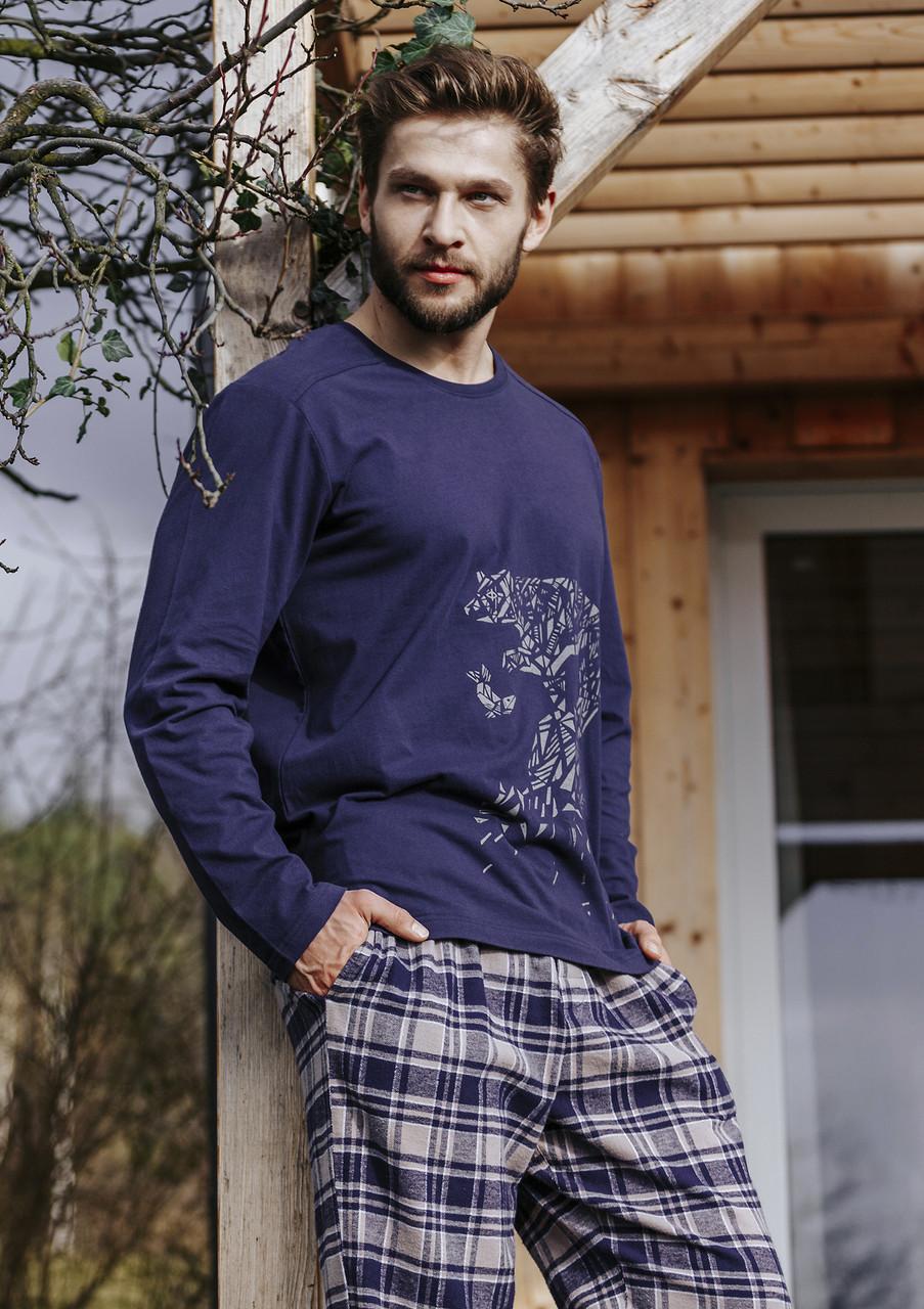 Мужская пижама,штаны фланелевые. Польша.KEY MNS 044