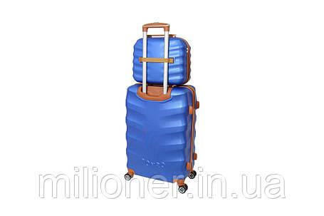 Комплект чемодан + кейс Bonro Next (средний) синий, фото 2