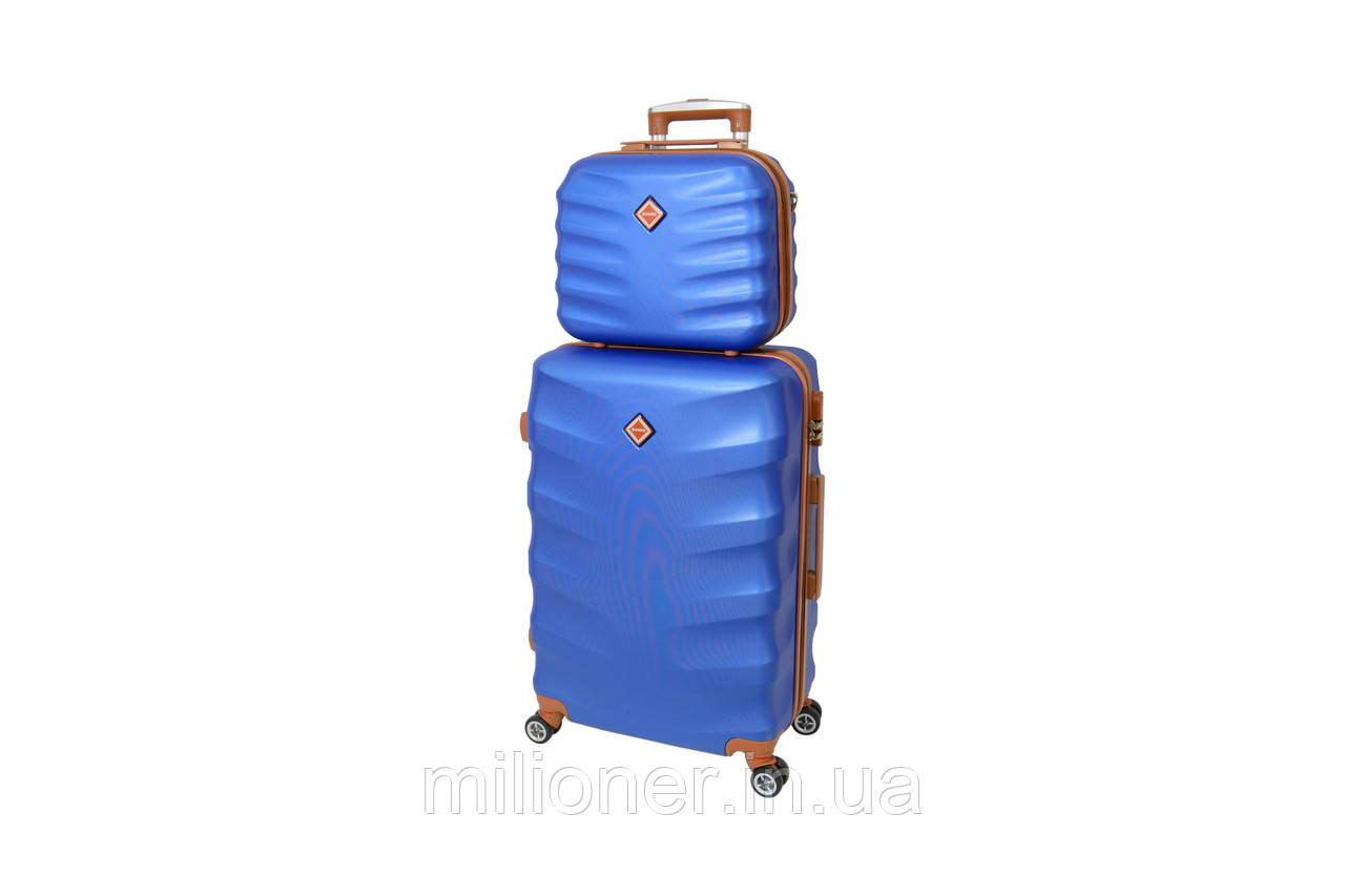 Комплект чемодан + кейс Bonro Next (средний) синий