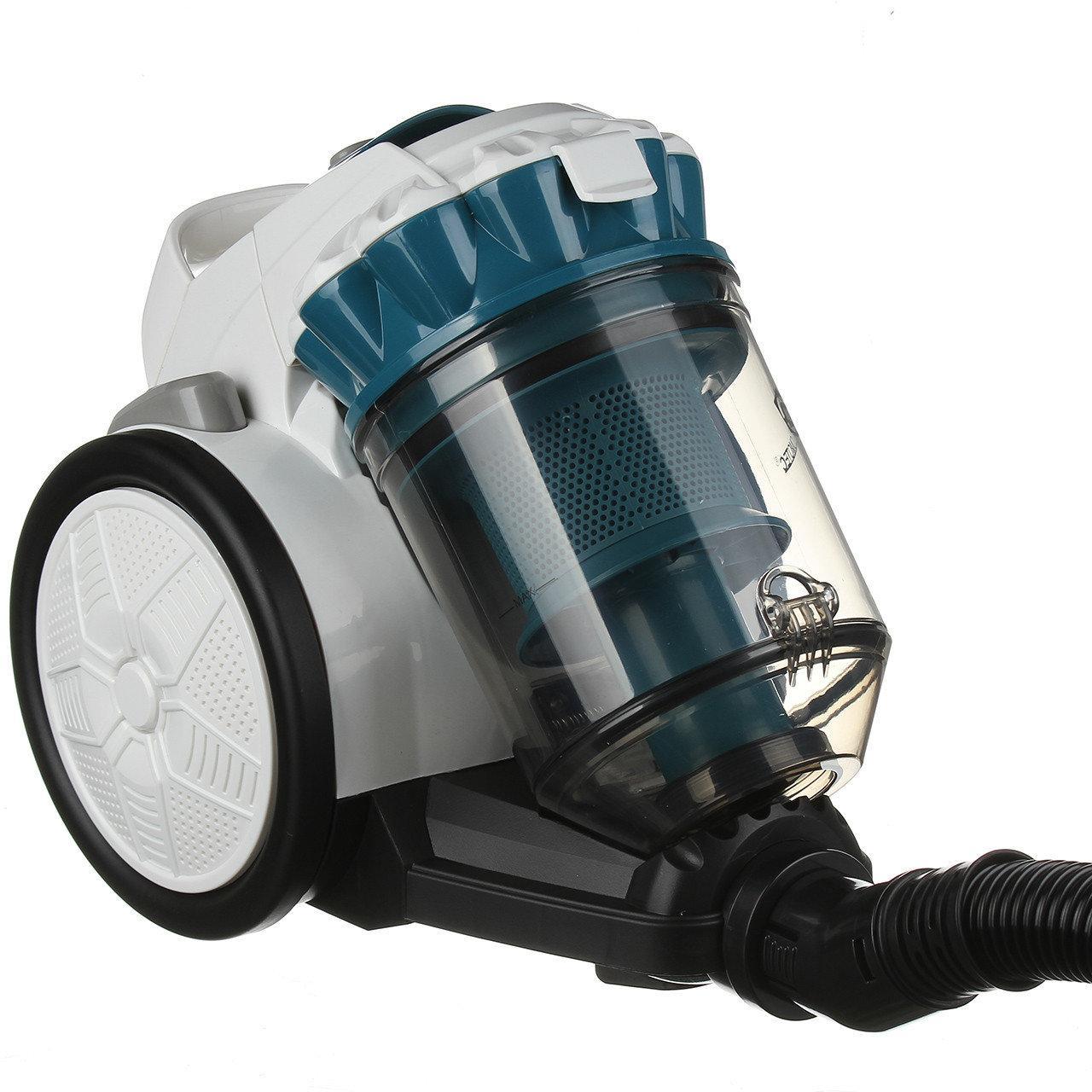 Пылесос без мешка Domotec MS-4410 3000 Ватт пластиковая щетка для пола индикатор наполнения контейнера