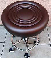 Стул мастера маникюра и педикюра коричневый ( с бронзовым отливом)