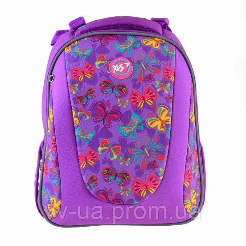 Рюкзак школьный каркасный Yes H-28 Butterfly dance, для девочек (557733)