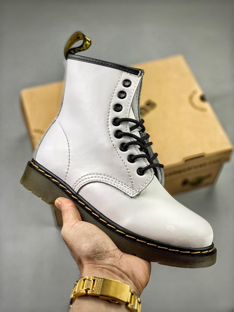 Мужские Ботинки Dr. Martens 1460 White
