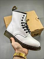 Мужские Ботинки Dr. Martens 1460 White, фото 1