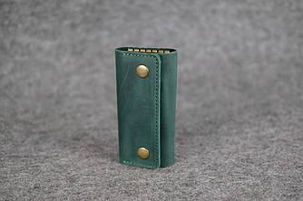 Ключница на кнопках Винтажная кожа цвет Зеленый