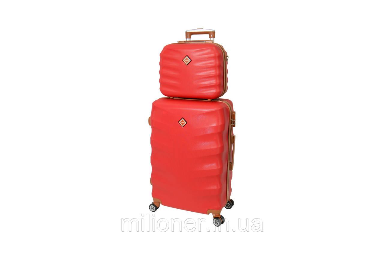 Комплект чемодан + кейс Bonro Next (средний) бордовый