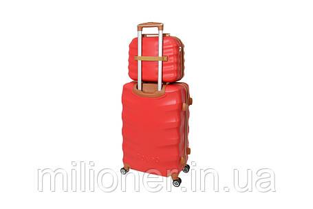 Комплект чемодан + кейс Bonro Next (средний) бордовый, фото 2