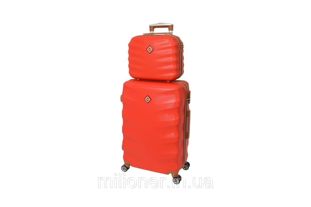 Комплект чемодан + кейс Bonro Next (средний) красный