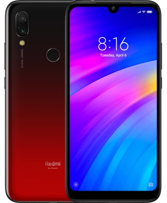 "Смартфон Xiaomi Redmi 7 Red 3/64Gb Global, 12+2/8Мп, Snapdragon 632, 2sim, 6.26"" IPS, 4000mAh, 8 ядер"
