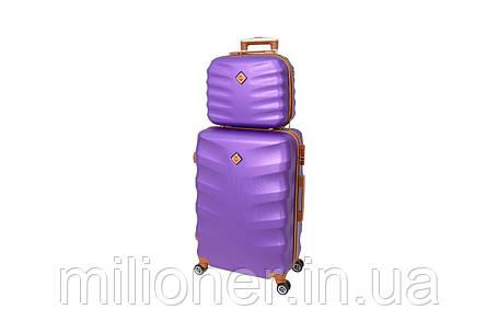 Комплект чемодан + кейс Bonro Next (большой) фиолетовый, фото 2