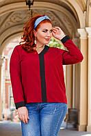 Женская стильная блузка №41324 (р.42-56) бордо, фото 1