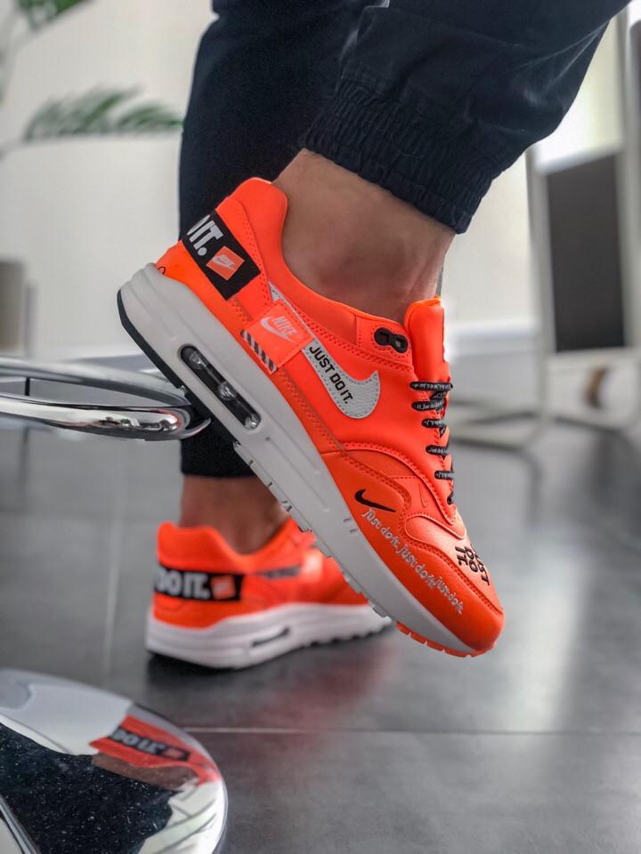 Кроссовки мужские Nike Air Max 1 Just Do It Pack Orange. ТОП КАЧЕСТВО!!! Реплика класса люкс (ААА+)
