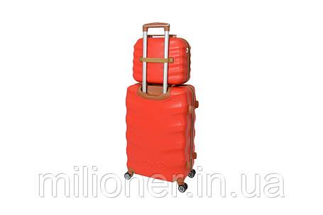Комплект чемодан + кейс Bonro Next (большой) красный, фото 2