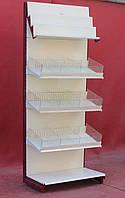 Торговый кондитерский стеллаж «Колумб» 230х95 см., кремовый, Б/у, фото 1