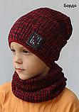 Комплект шапка и хомут на мальчика, фото 2