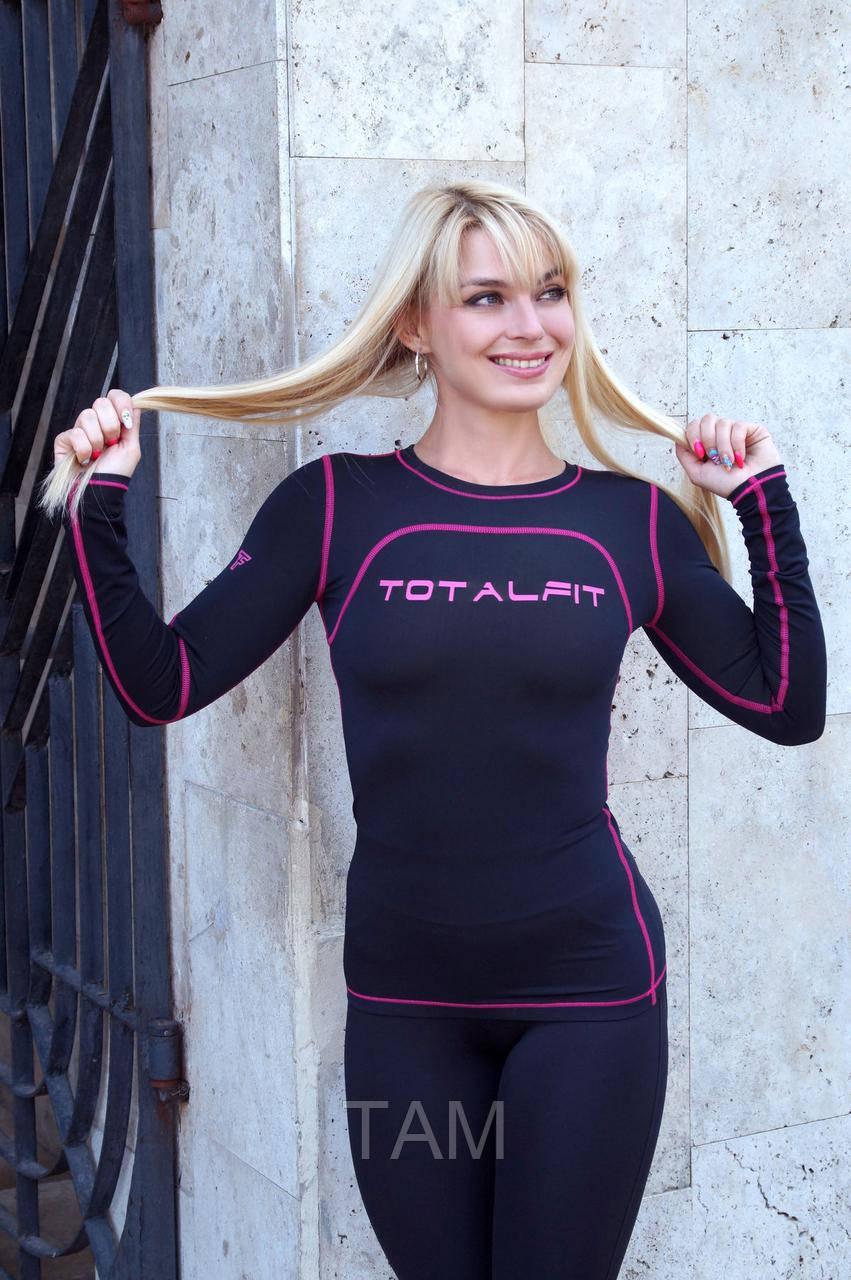 Женский рашгард Totalfit RWB1-Y73 L черный