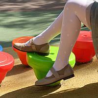 Туфли для девочек, натуральная кожа и замша. Цвет визон. 35 размер
