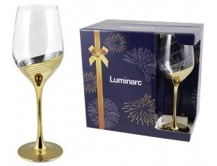 """Набор бокалов для вина Luminarc Celeste """"Золотое кольцо"""" 350мл 6шт"""