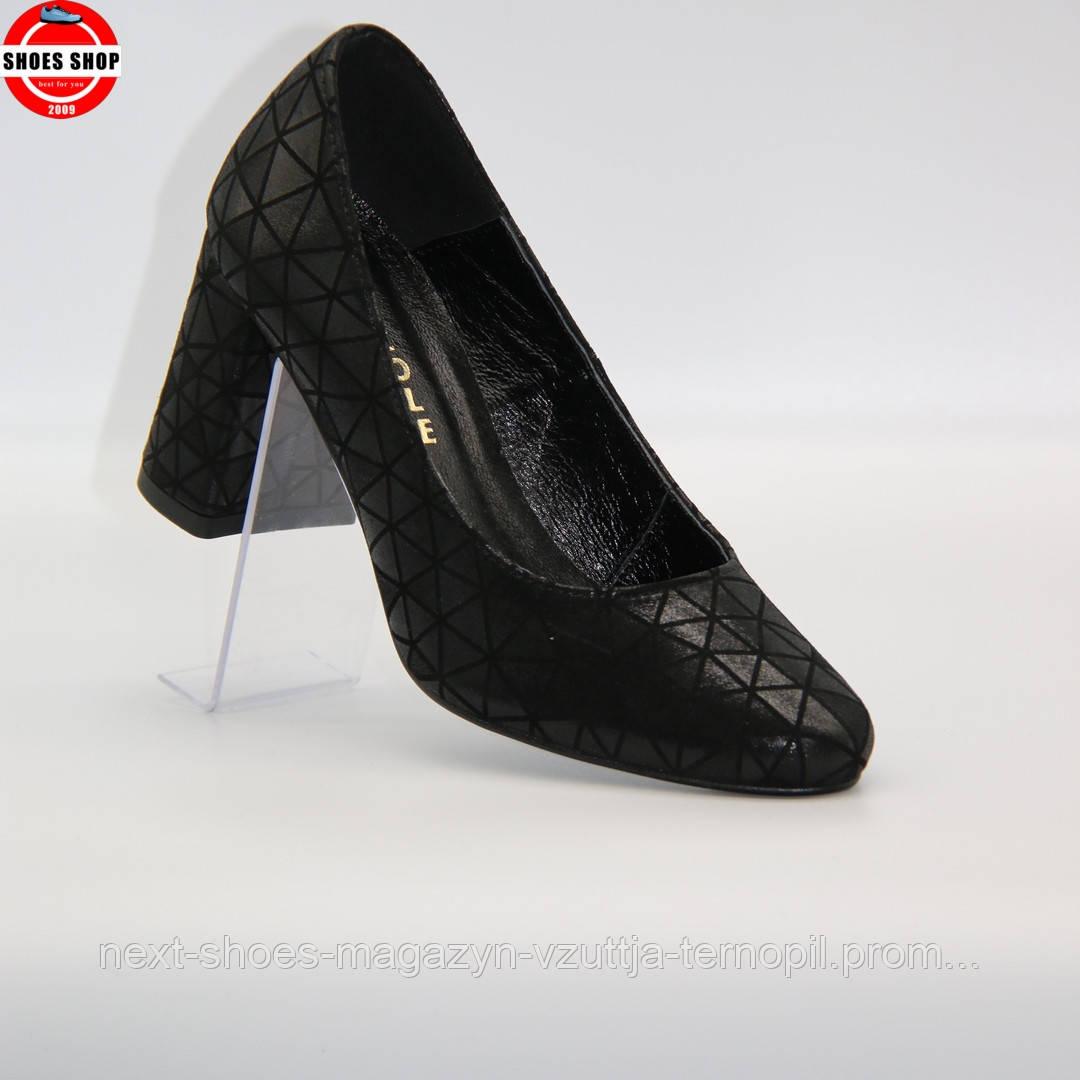 Жіночі туфлі Nicole (Польща) чорного кольору. Красиві та комфортні. Стиль: Каї Скоделаріо
