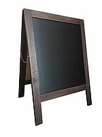 Штендер двухсторонний, мимоход, рекламный щит венге