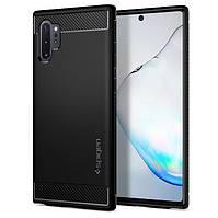 Чехол Spigen для Samsung Galaxy Note 10 Plus / 10 Plus 5G Rugged Armor, Matte Black (627CS27331)