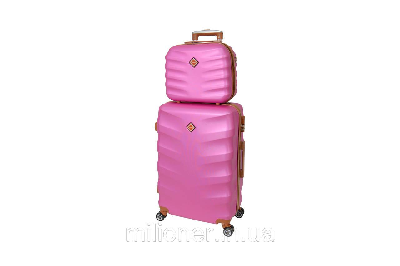 Комплект чемодан + кейс Bonro Next (большой) розовый