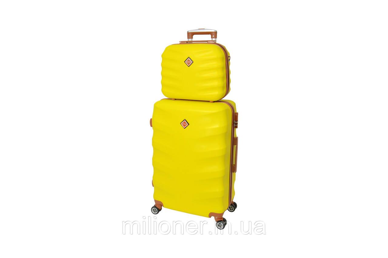 Комплект чемодан + кейс  Bonro Next (большой) желтый