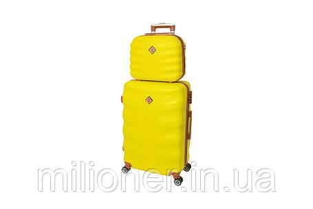 Комплект чемодан + кейс  Bonro Next (большой) желтый, фото 2