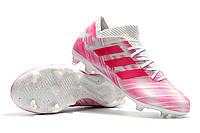 Футбольные бутсы adidas Nemeziz 18.1 FG White/Pink, фото 1