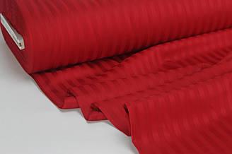 Страйп сатин красного цвета полоска 1*1 см  ширина 240 см № VS-00-03