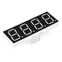 4-разрядный 7-сегментный индикатор 0.56 красный 12pin катод Arduino
