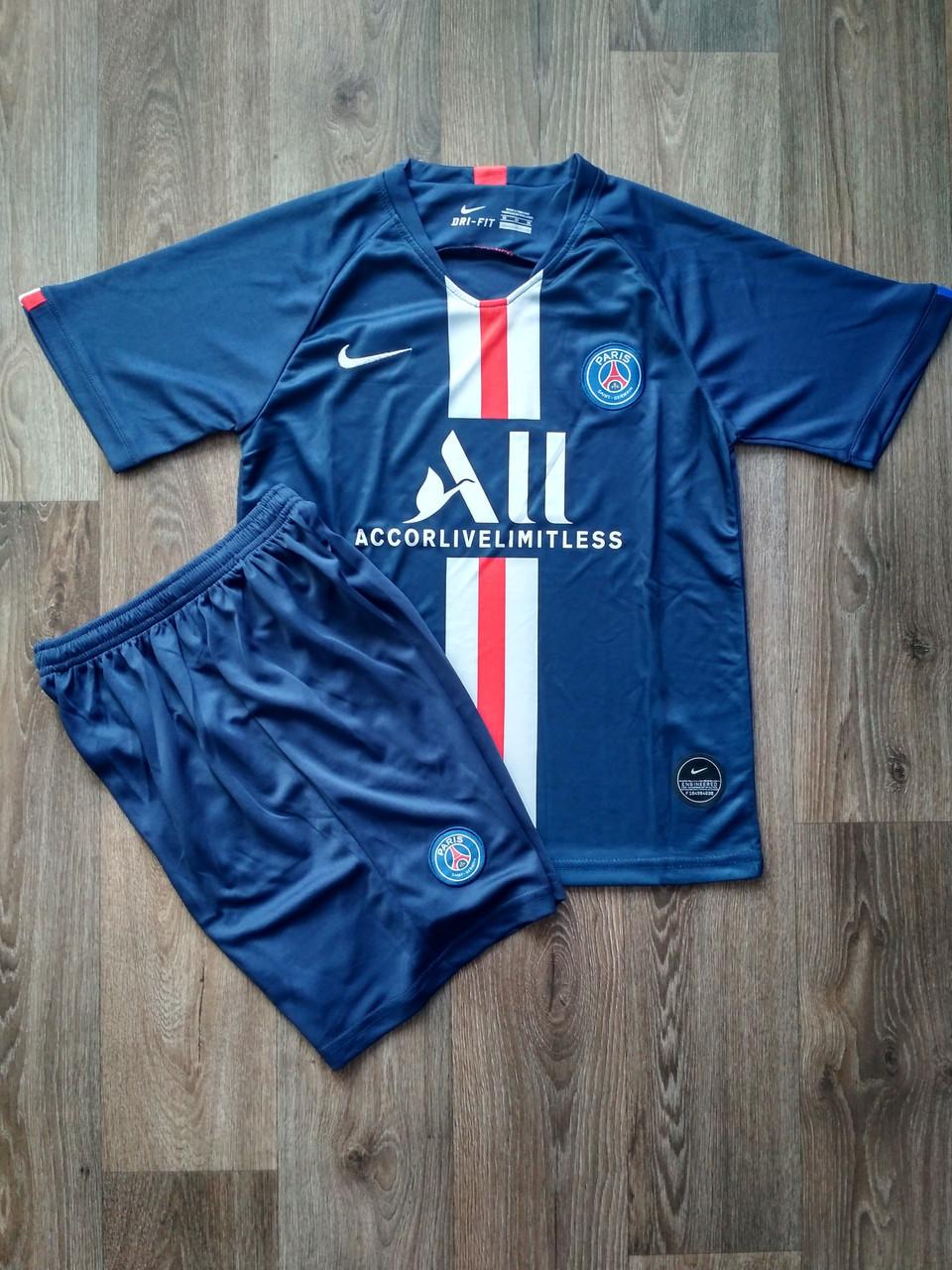 Детская футбольная форма ПСЖ/PSG ( Франция, Лига 1 ), домашняя, сезон 2019-2020 фанатская версия