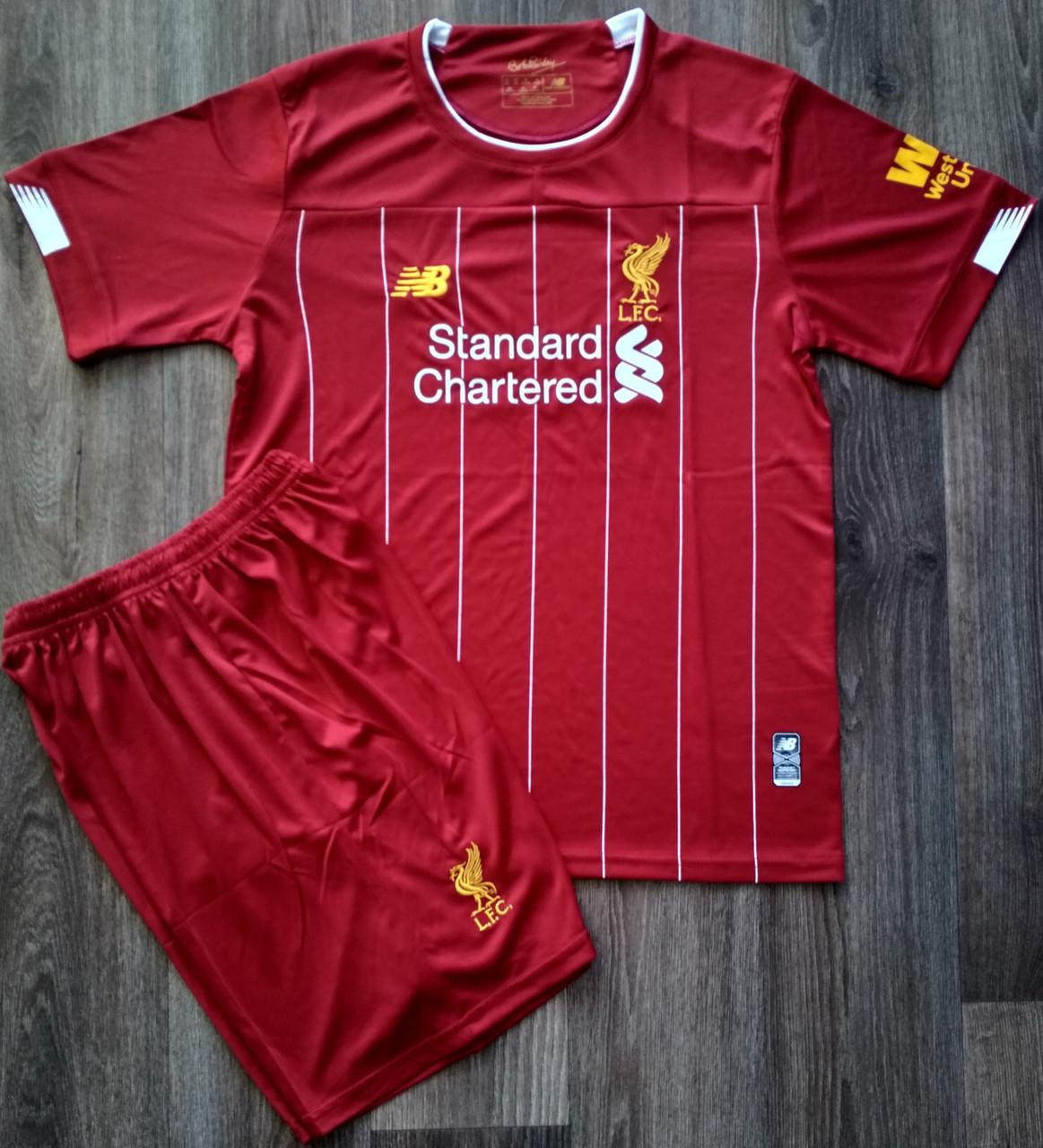 Детская форма Ливерпуль/Liverpool ( Англия, Премьер Лига ), домашняя, сезон 2019-2020 фанатская версия