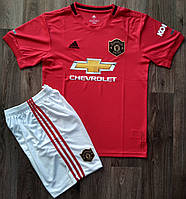 Детская форма Манчестер Юнайтед/Manchester United ( Англия,Премьер Лига ),домашняя, 19-20 фанатская версия, фото 1