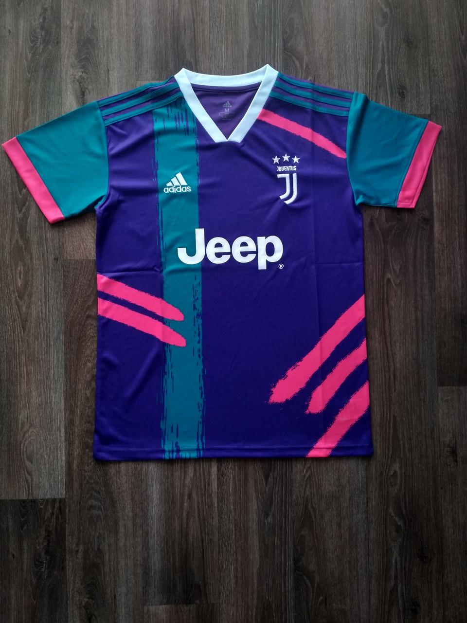 Тренировочная футболка игровая Ювентус/Juventus ( Италия, Серия А ), фиолетовая, сезон 2019-2020