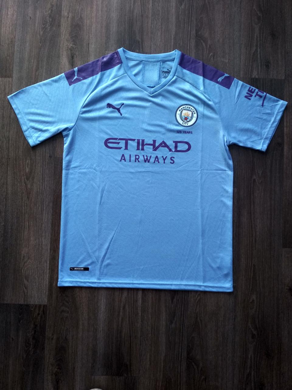 Тренировочная футболка игровая Манчестер Сити/Manchester City ( Англия, Премьер Лига ), домашняя, сезон 19-20