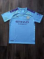 Тренировочная футболка игровая Манчестер Сити/Manchester City ( Англия, Премьер Лига ), домашняя, сезон 19-20, фото 1