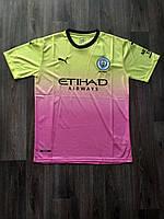 Тренировочная футболка игровая Манчестер Сити/Manchester City ( Англия, Премьер Лига ), резервная, сезон 19-20, фото 1