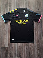 Тренировочная футболка игровая Манчестер Сити/Manchester City ( Англия, Премьер Лига ), выездная, сезон 19-20, фото 1