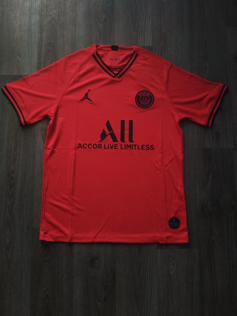 Тренировочная футболка игровая ПСЖ/PSG ( Франция, Лига 1 ), красная, сезон 2019-2020