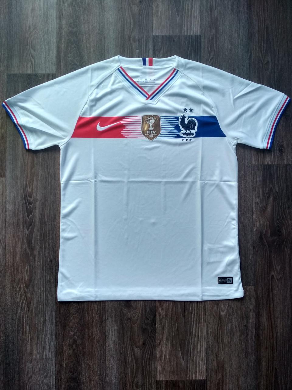 Тренировочная футболка игровая Франция, белая, сезон 2019
