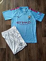 Детская футбольная форма Манчестер Сити/Manchester City ( Англия, Премьер Лига ), домашняя, сезон 2019-2020, фото 1