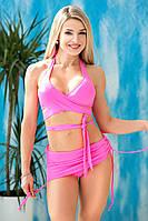 Раздельный купальник с юбкой Totalfit KR5-C2 XXS Розовый, фото 1