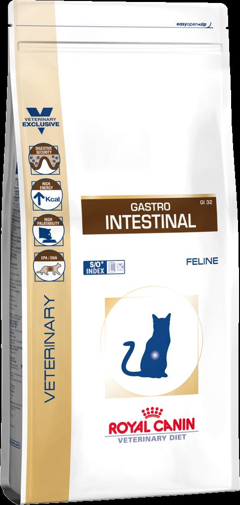 Корм для кошек с нарушением пищеварения Royal Canin GASTRO INTESTINAL FELINE 2 кг
