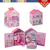 Ігровий набір для дівчинки 60180EP пупс з будинком та аксесуарами, фото 1