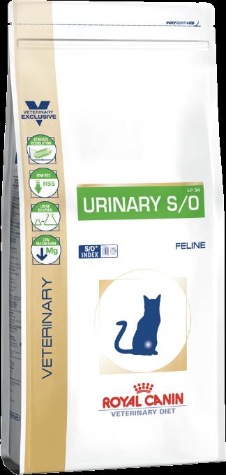 Корм для кошек для  лечения мочекаменной болезни Royal Canin URINARY S/O FELINE 1,5 кг