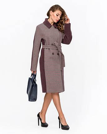 Женское демисезонное двубортное пальто - М 1340, фото 2
