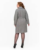 Женское демисезонное двубортное пальто - М 1340, фото 3